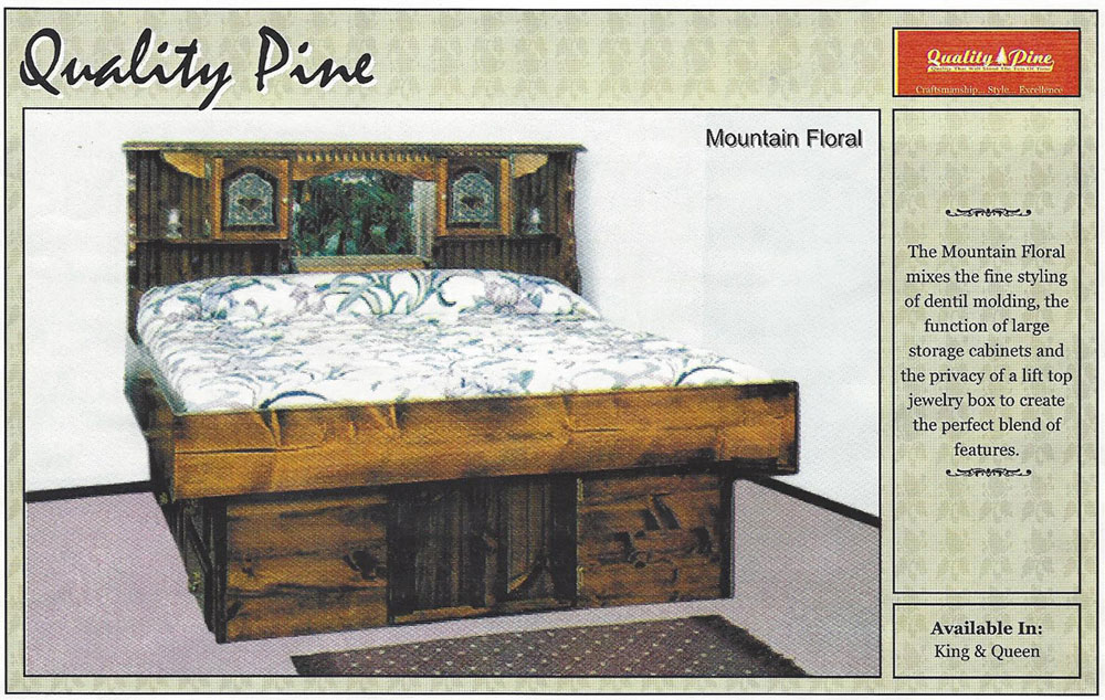 Mountain Floral Waterbed