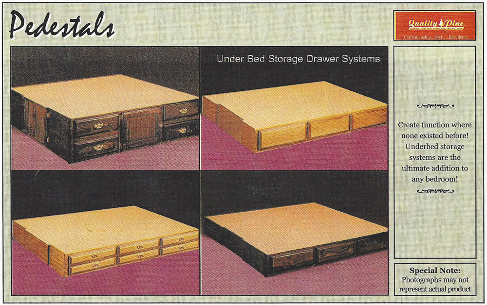 Waterbed Pedestals Underbed Storage for Waterbeds